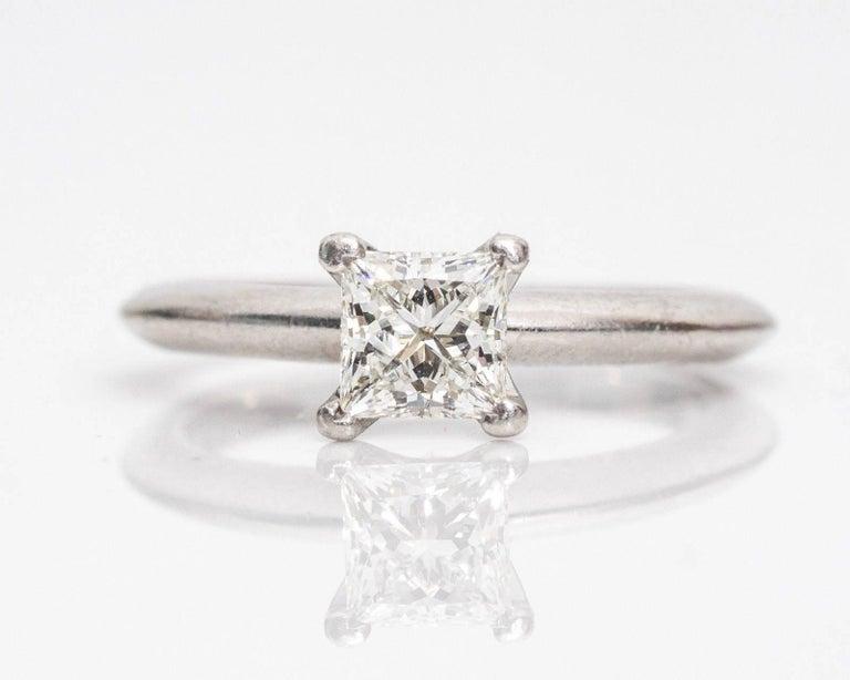 Tiffany & Co. Classic diamond Platinum Solitaire Engagement Ring 2