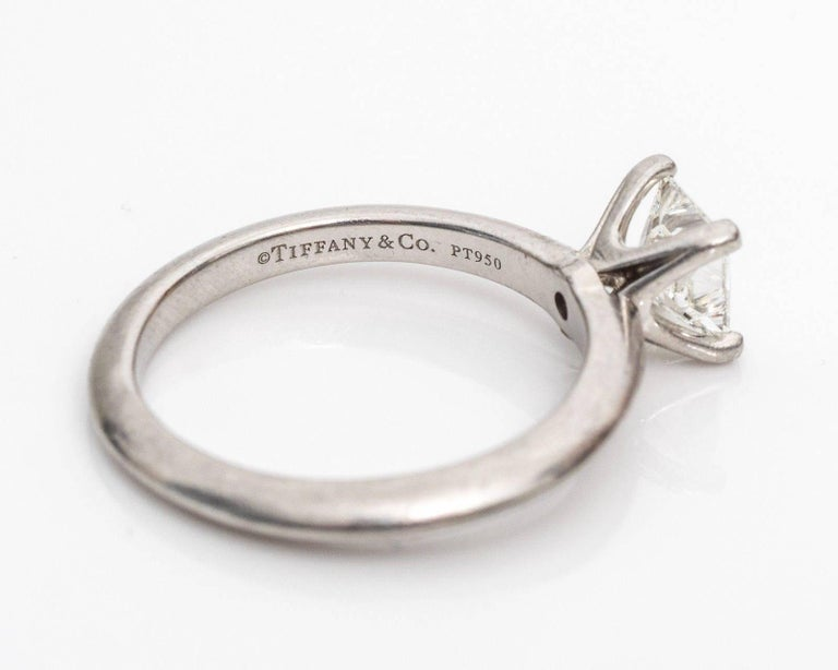Tiffany & Co. Classic diamond Platinum Solitaire Engagement Ring 5