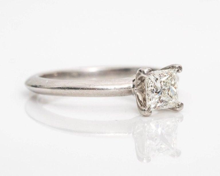 Tiffany & Co. Classic diamond Platinum Solitaire Engagement Ring 3