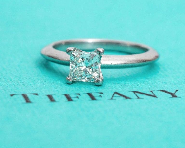 Tiffany & Co. Classic diamond Platinum Solitaire Engagement Ring 7