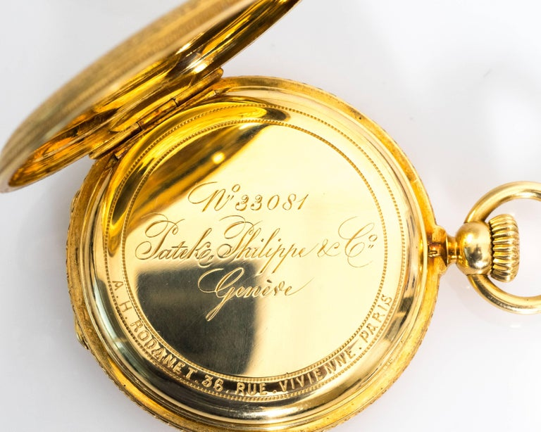 1880s Patek Philippe Yellow Gold Pocket Watch 6