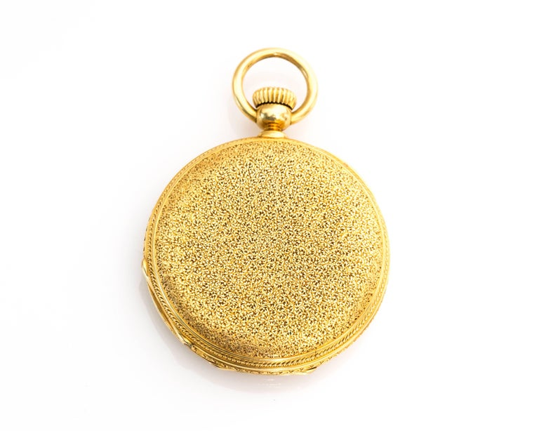 1880s Patek Philippe Yellow Gold Pocket Watch 3