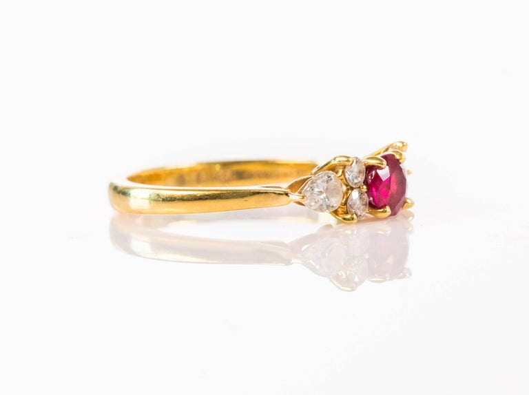 bf89443dbca10 Tiffany & Co .40 Carat Red Ruby, Diamond and 18K Gold Ring
