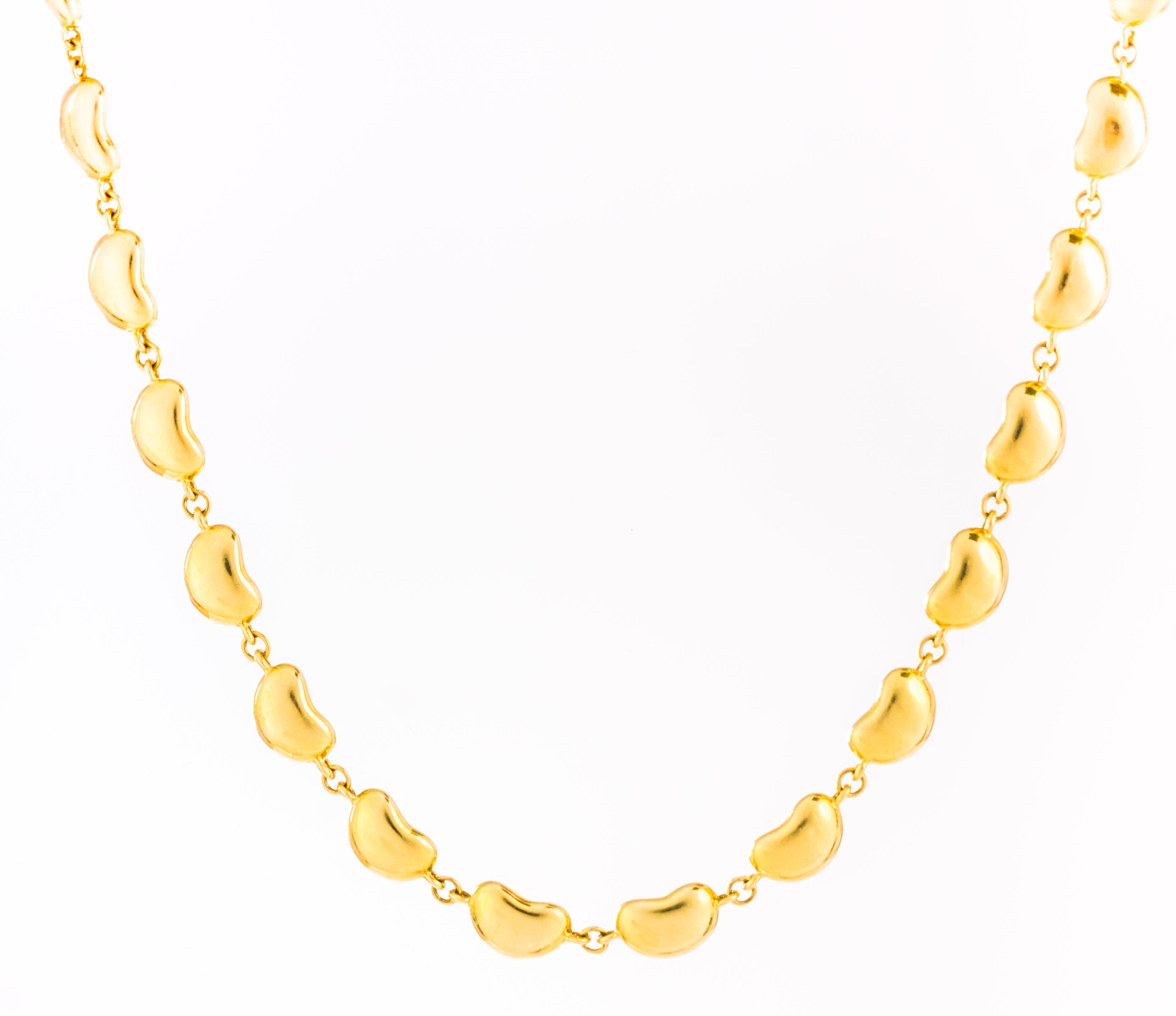 866ba9718d3 Tiffany and Co. Elsa Peretti Bean Collection 18K Gold Link Necklace at  1stdibs