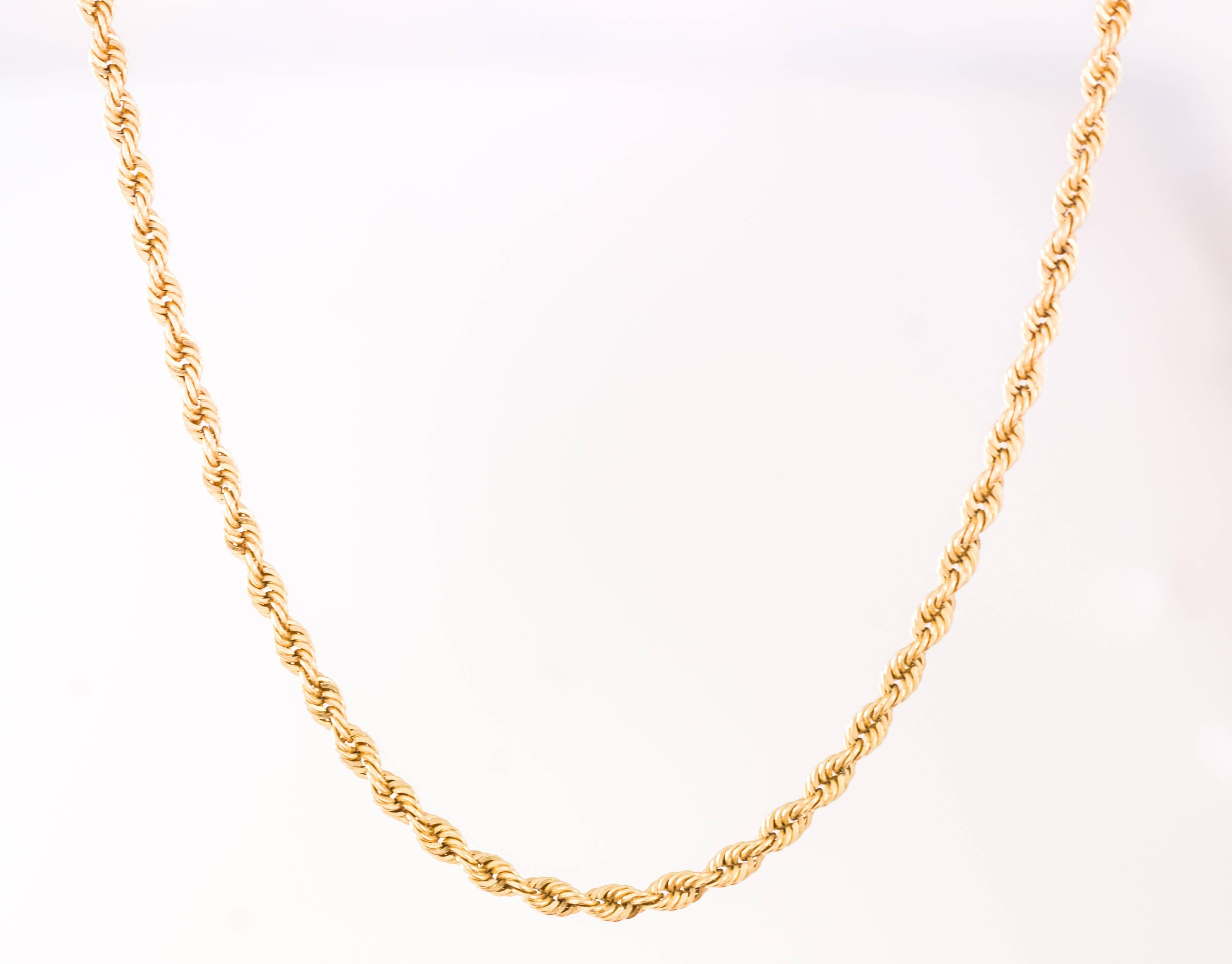 c9420344c Tiffany and Co. Classic Rope Chain 18K Gold Necklace For Sale at 1stdibs