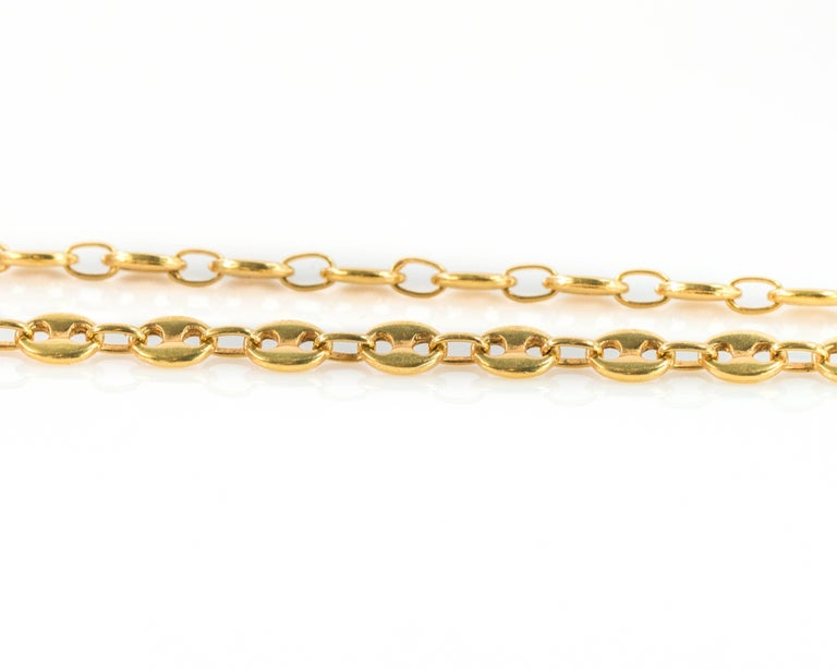 chain gold dp s flat necklace men white mens mariner