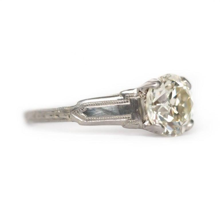 1 23 carat platinum and white gold engagement ring