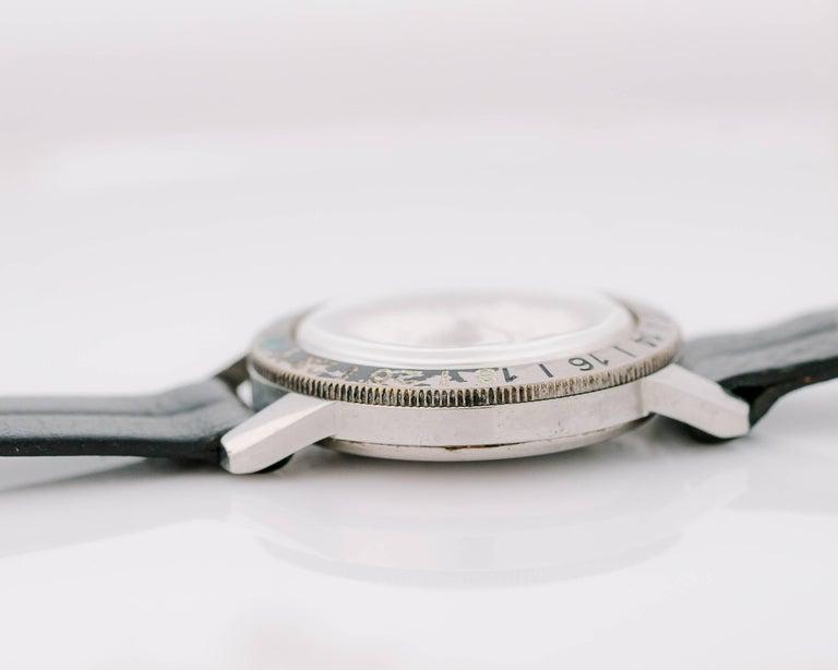 1950s Zodiac Aerospace GMT Stainless Steel Wristwatch For Sale 1