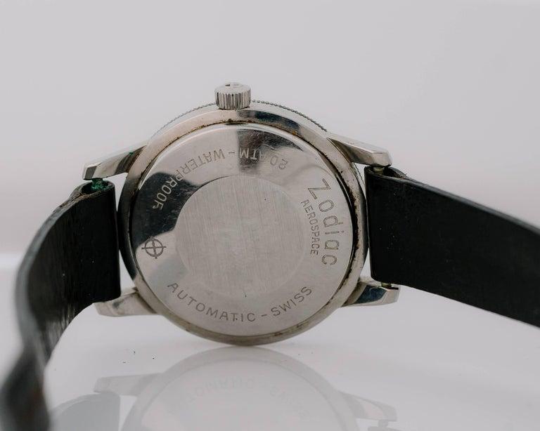 Women's or Men's 1950s Zodiac Aerospace GMT Stainless Steel Wristwatch For Sale