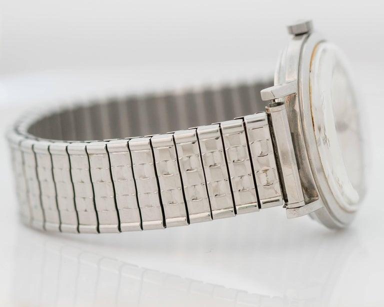 Retro 1950s Zodiac Custom Stainless Steel Wrist Watch For Sale