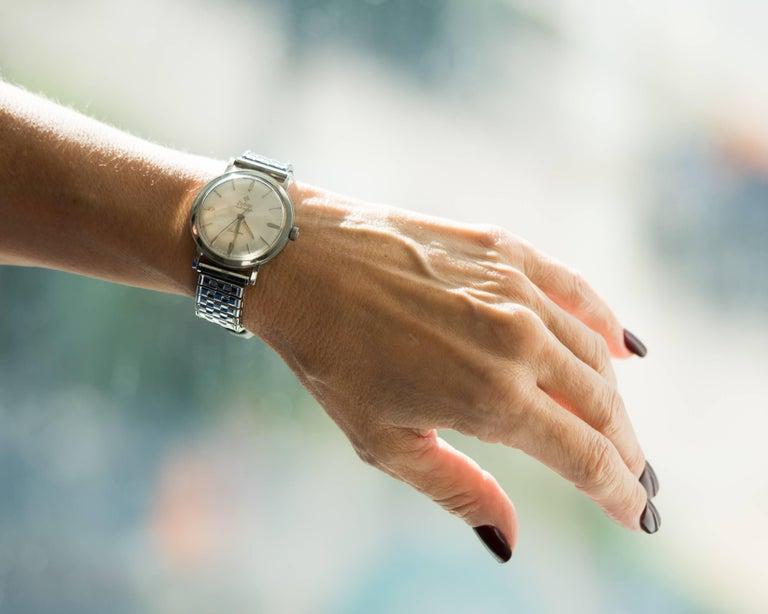 Women's or Men's 1950s Zodiac Custom Stainless Steel Wrist Watch For Sale