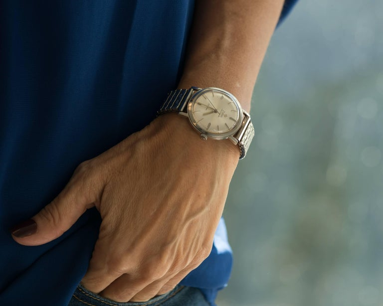 1950s Zodiac Custom Stainless Steel Wrist Watch For Sale 1