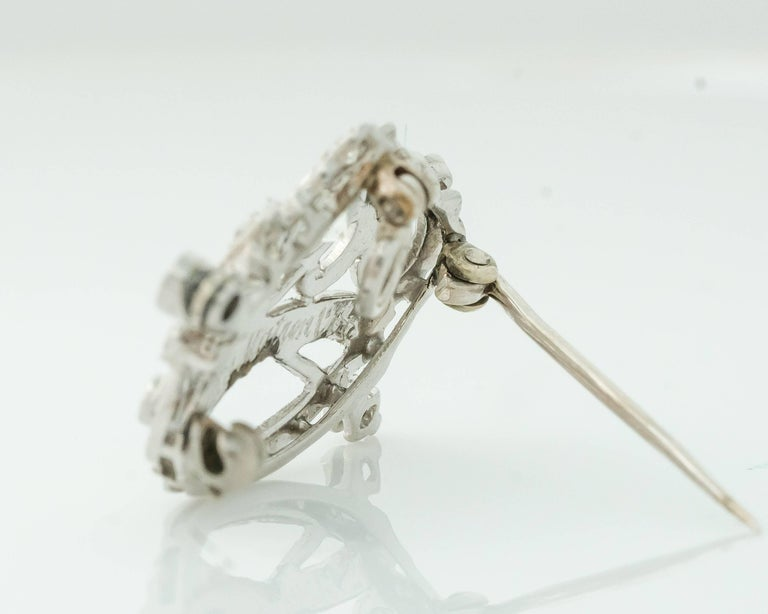 1930s Art Deco 0.85 Carat Diamond Crown and Scepter Convertible Brooch Pendant In Good Condition For Sale In New York, NY