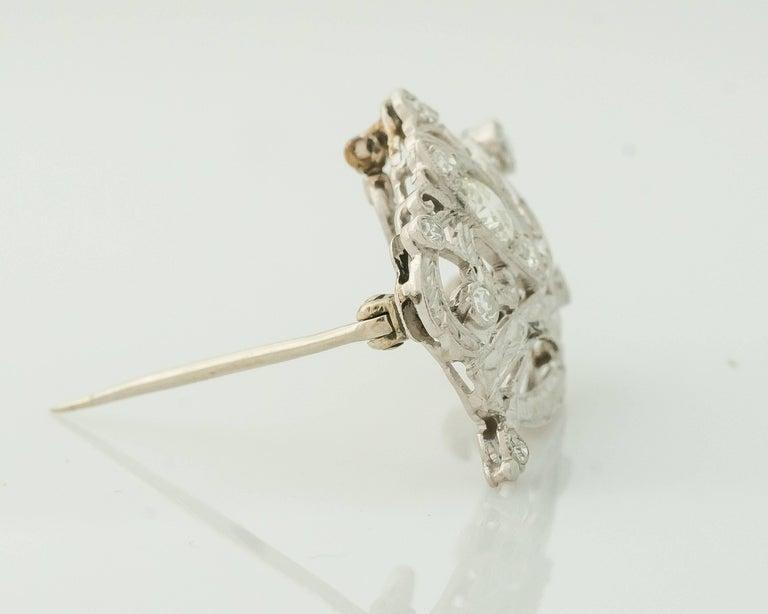 Women's 1930s Art Deco 0.85 Carat Diamond Crown and Scepter Convertible Brooch Pendant For Sale