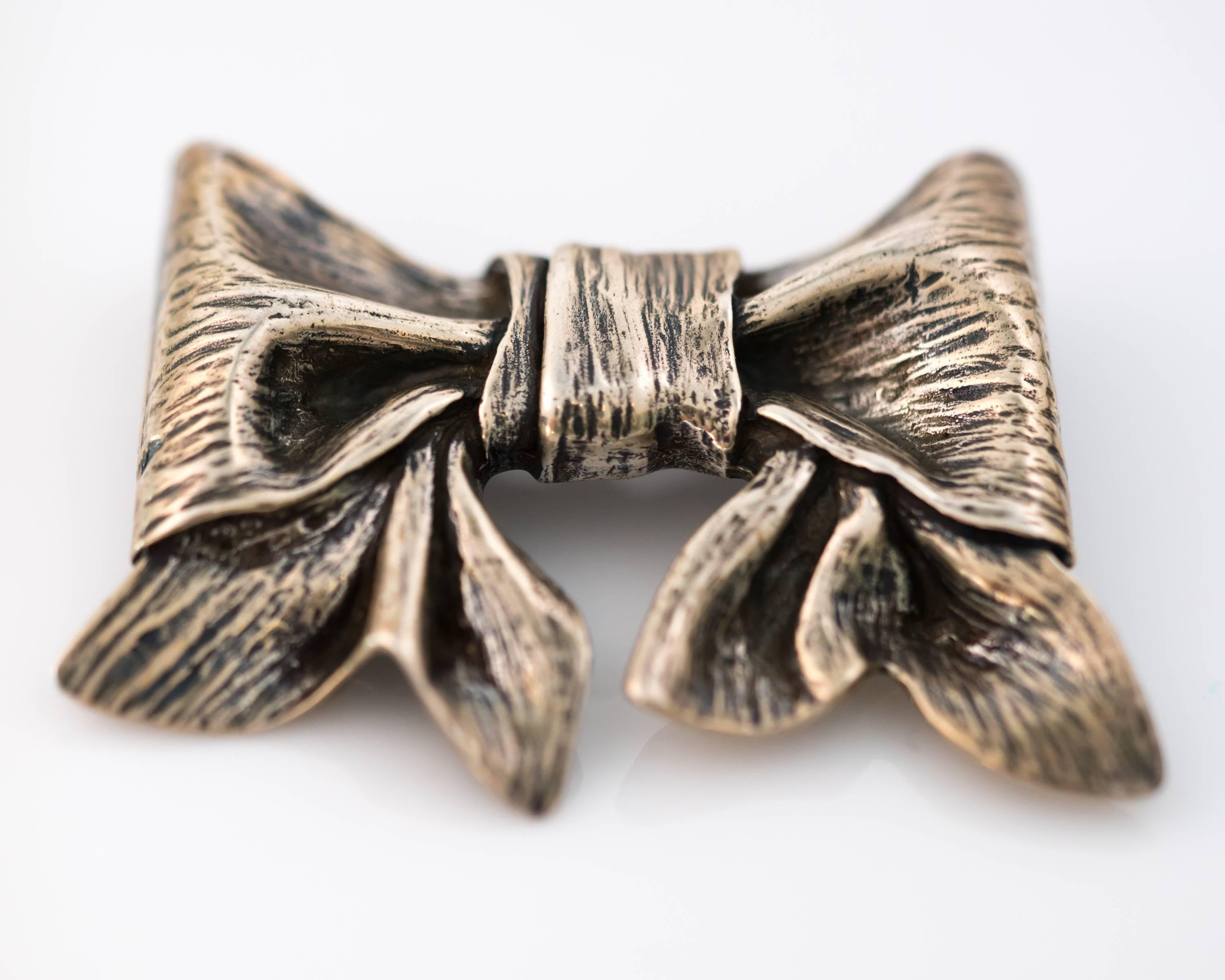 ee31f861dcc 1960s James Avery Sterling Silver Bow Brooch For Sale at 1stdibs