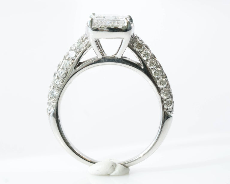 1 00 Carat Princess Cut Diamond With Halo 14 Karat White