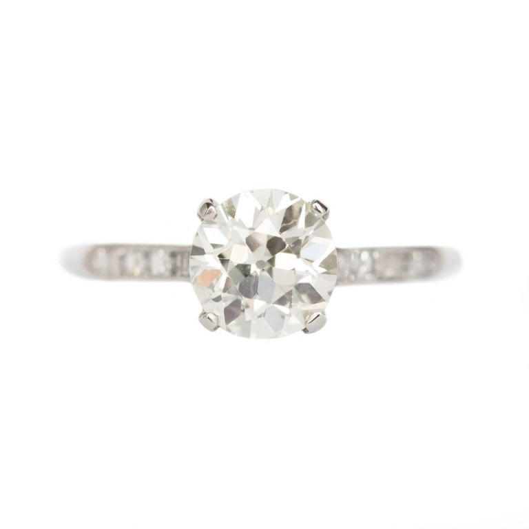 GIA Certified 1.24 Carat Diamond Platinum Engagement Ring