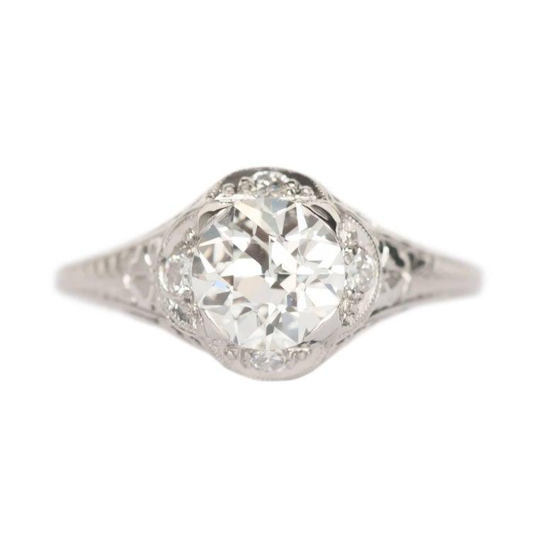 GIA Certified 1.25 Carat Diamond Platinum Engagement Ring