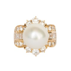 Natural Pearl Yellow Gold Cocktail Ring