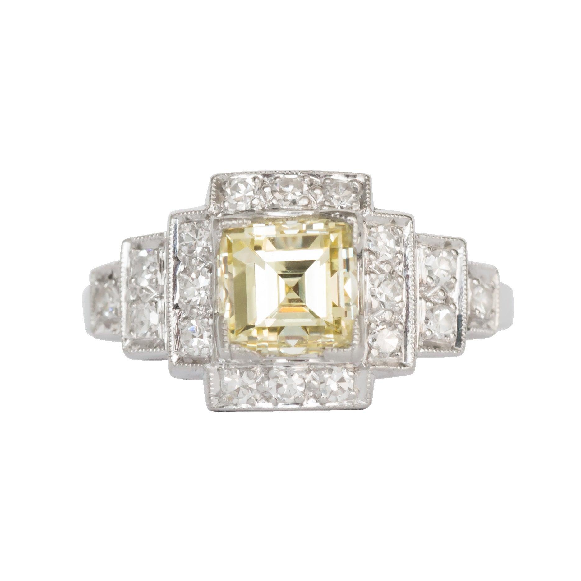 GIA Certified 1.09 Carat Diamond Engagement Ring
