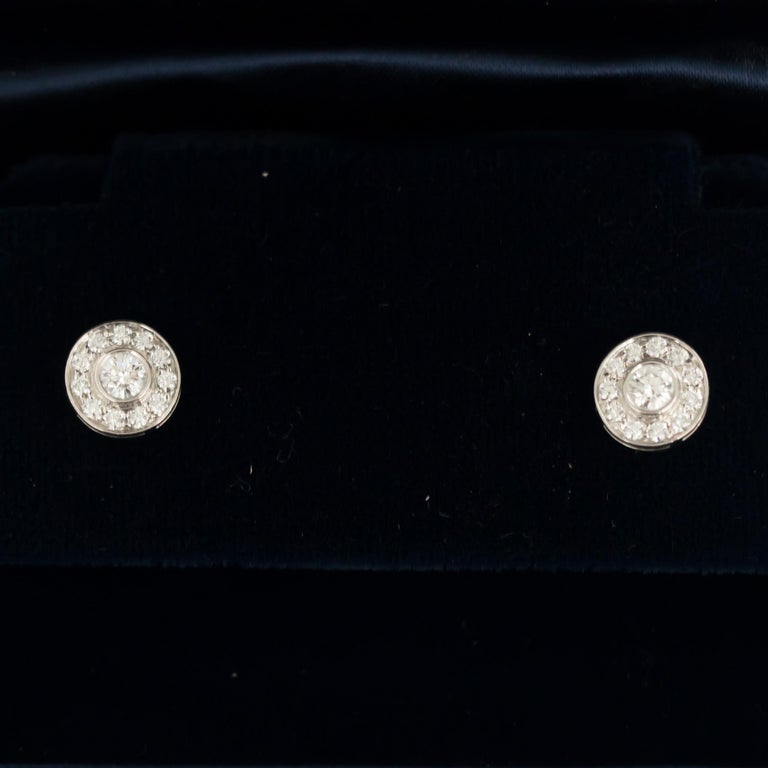 .53 Carat Total Weight Platinum Tiffany & Co. Earrings In Good Condition For Sale In New York, NY
