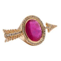 Ruby Diamond Arrow Ring
