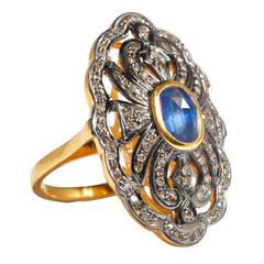 Jade Jagger Sapphire and Diamond Ring
