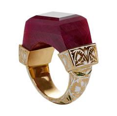 Jade Jagger NeverEnding Ruby Enamel Ring
