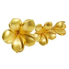 Jade Jagger Gold Flower Ring, Diamond Burr Finish