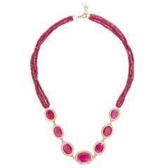 Jade Jagger Ruby And Diamond Necklace