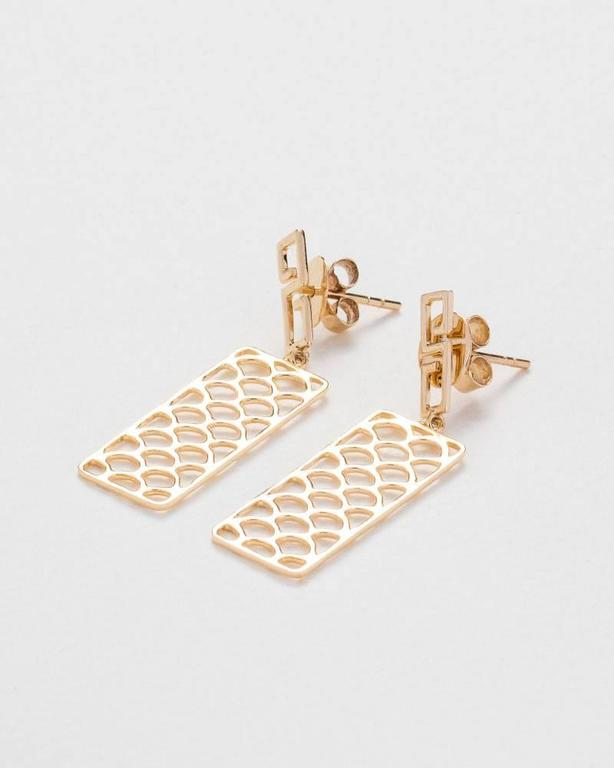 9kt gold earrings from the Jade Jagger Opium collection. Handmade in Jaipur, India.