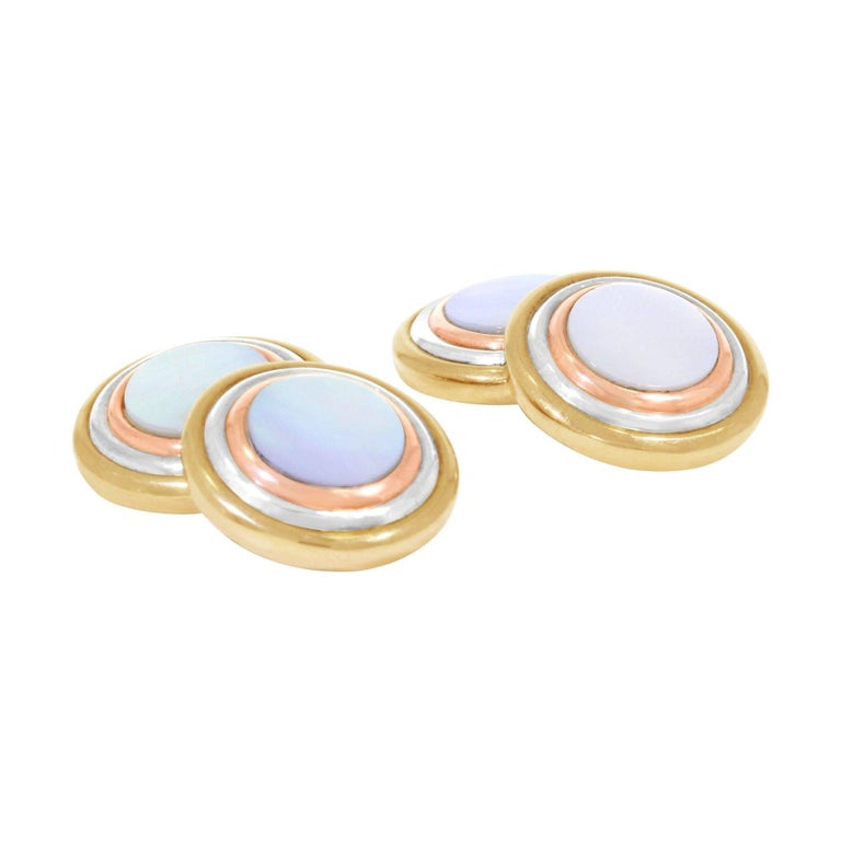 Cartier Yellow Gold Mother-of-Pearl Cufflinks