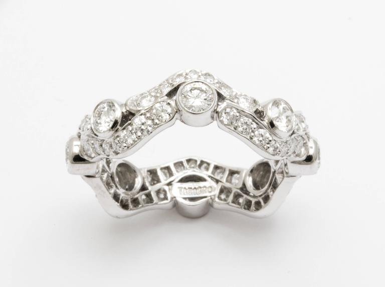 Tanagro jewelry onde collection diamond and platinum 950 for What is platinum jewelry made of
