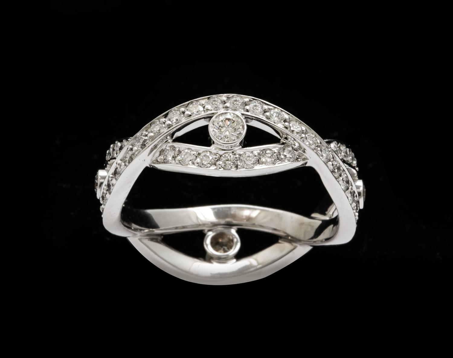 platinum infinity vine and diamonds ring for sale at 1stdibs