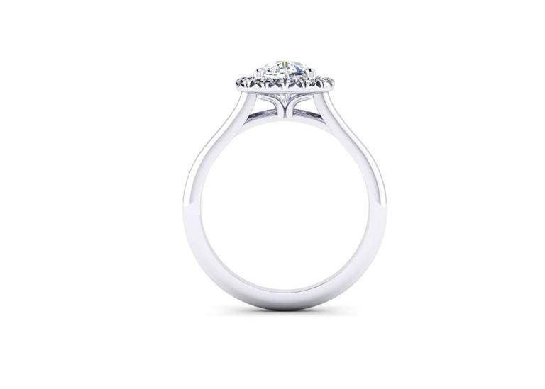 Ferrucci GIA Certified 1.51 carat G color, VS2 clarity Diamond in handmade Halo Platinum ring. Entirely designed and handmade in New York City, showcasing an exquisite quality diamond, cushion cut with diamond halo and smooth comfortable, easy to