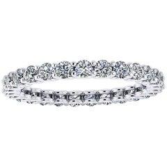 Ferrucci 1.00 Carat Diamonds Platinum Eternity Scallop Band Ring