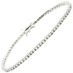 2.90 Carat Diamonds in 18 Karat White Gold Tennis Bracelet