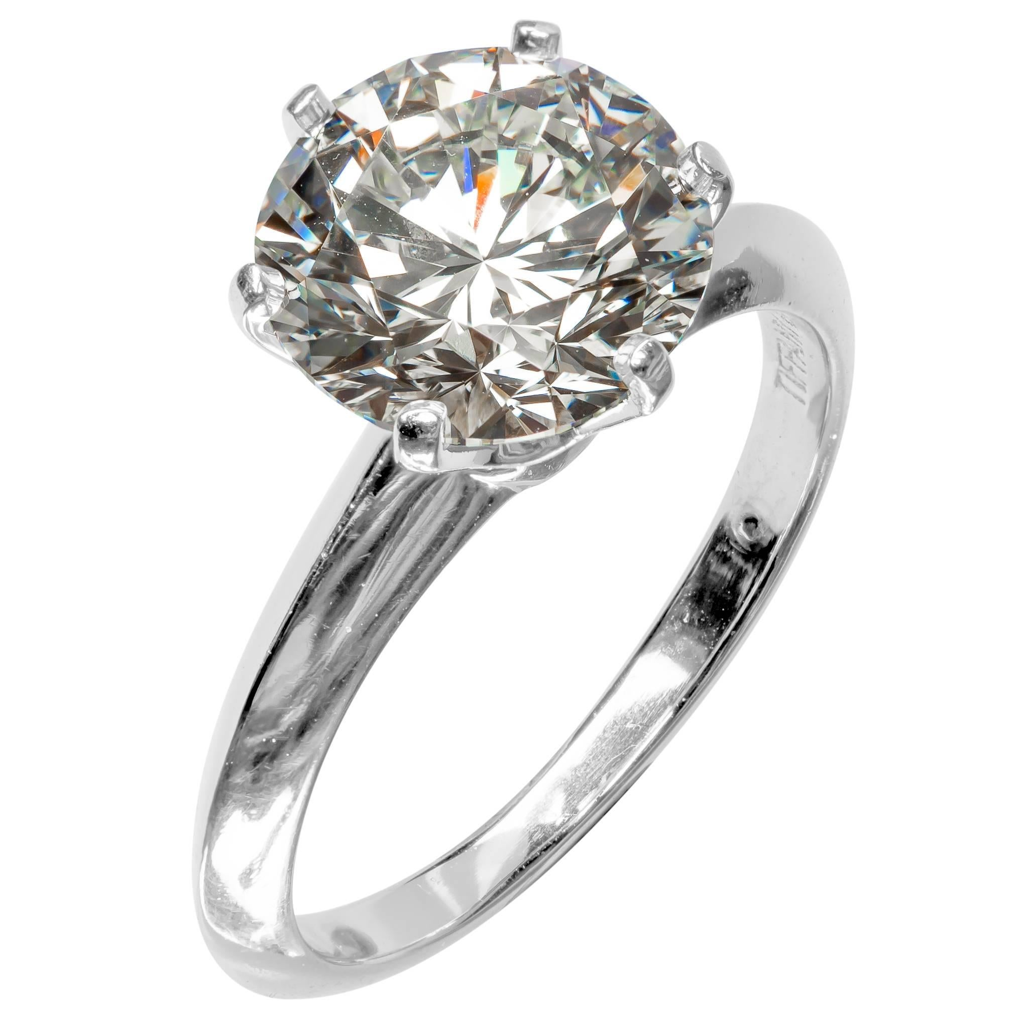rings diamond platinum jewelry engagement lucida solitaire estate tiffany wedding ring band