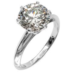 Tiffany & Co. 2.35 Carat Diamond Platinum Solitaire Ring