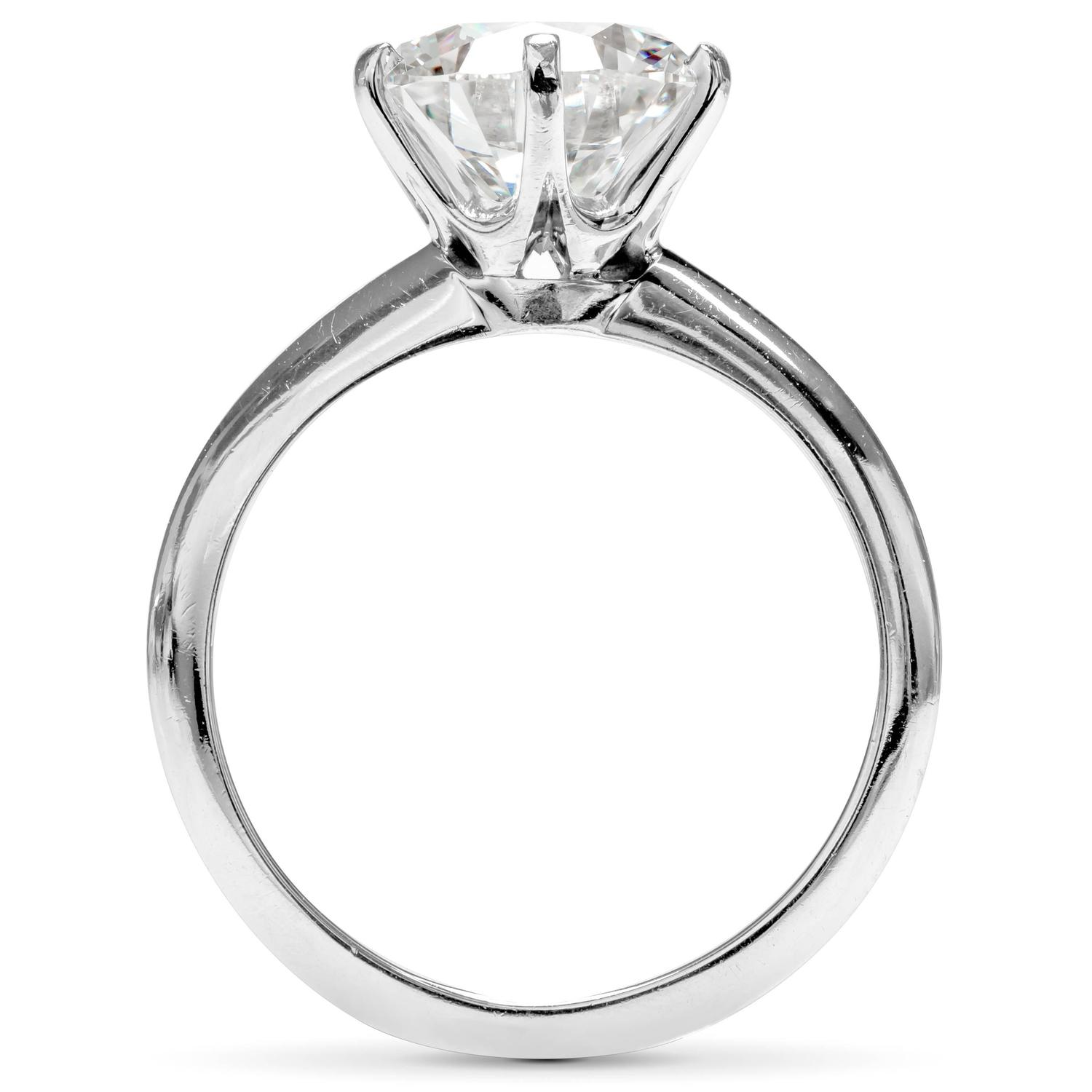 Tiffany And Co 2 35 Carat Diamond Platinum Solitaire Ring