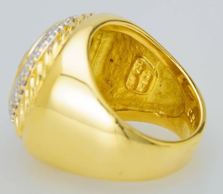 David Yurman Citrine Diamond Gold Ring 5