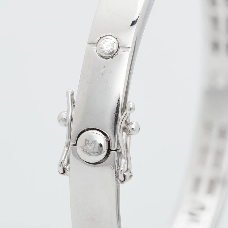 Movado Bracelet 18 Karat White Gold 0 15 Carat Diamonds Wrist