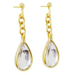 H. Stern Sutra Quartz Diamonds Teardrop Gold Earrings