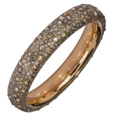 Pomellato Rose Gold 15.3 Carat Brown Diamonds Tango Bracelet