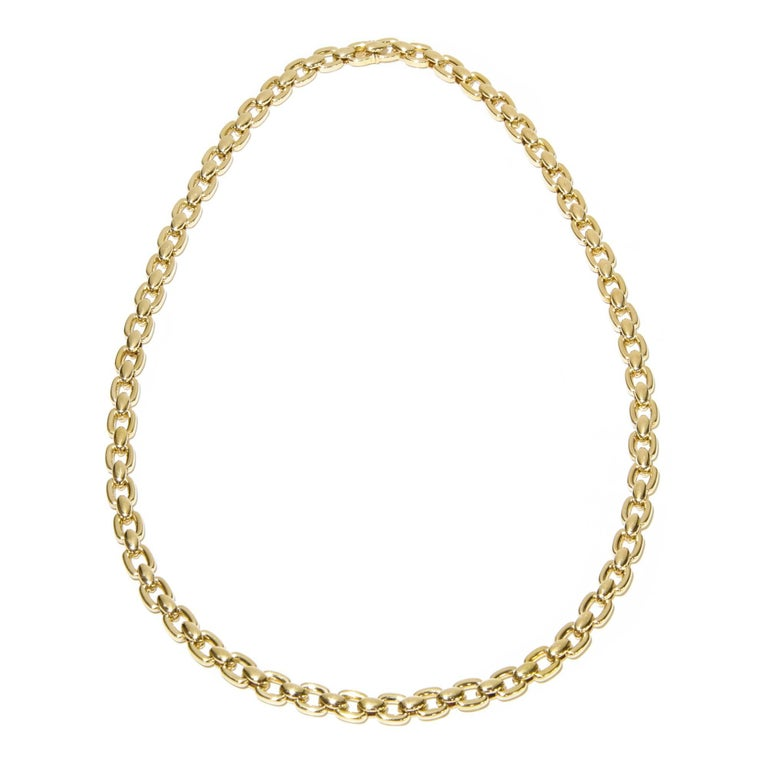 Vintage Cartier Link Necklace 18 Karat Yellow Gold