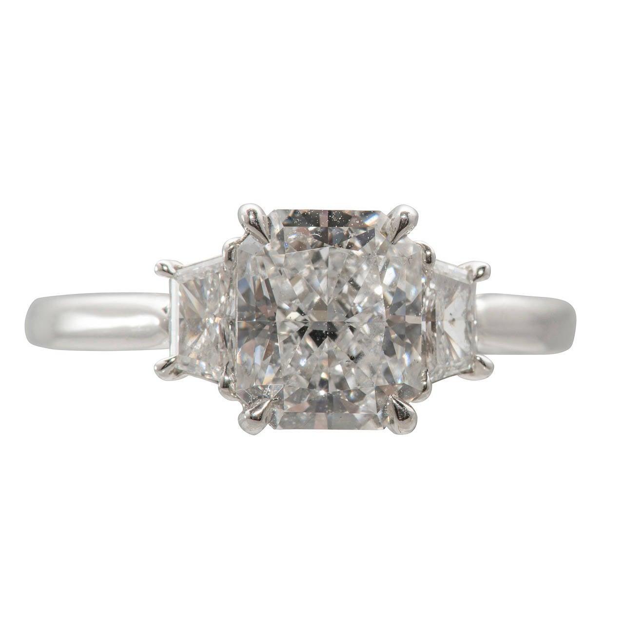 Kwiat Gia Cert 207 Carat Radiant Cut Diamond Engagement Ring 1