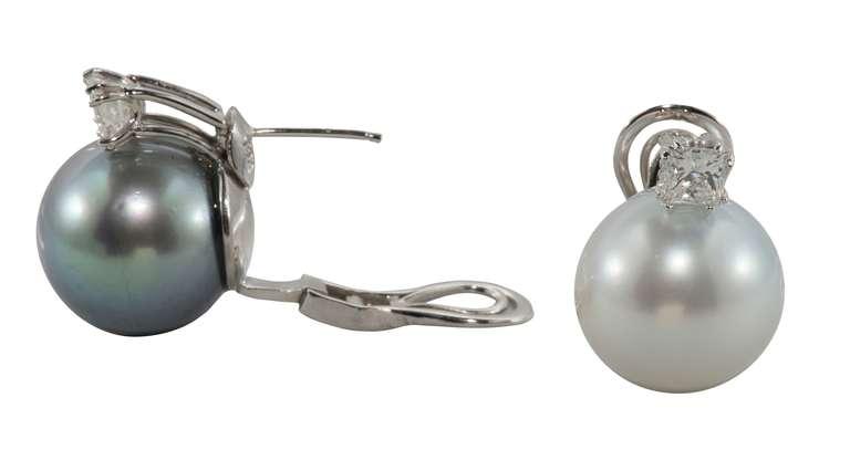 Pearl and Diamond Earrings 2