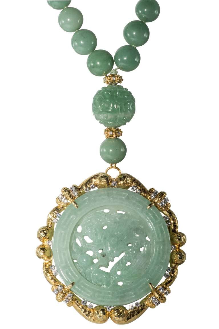 Women's Jade Necklace For Sale