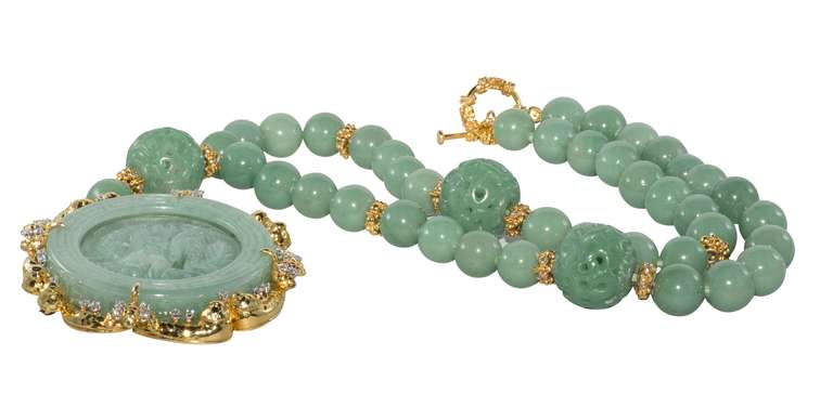 Jade Necklace For Sale 1