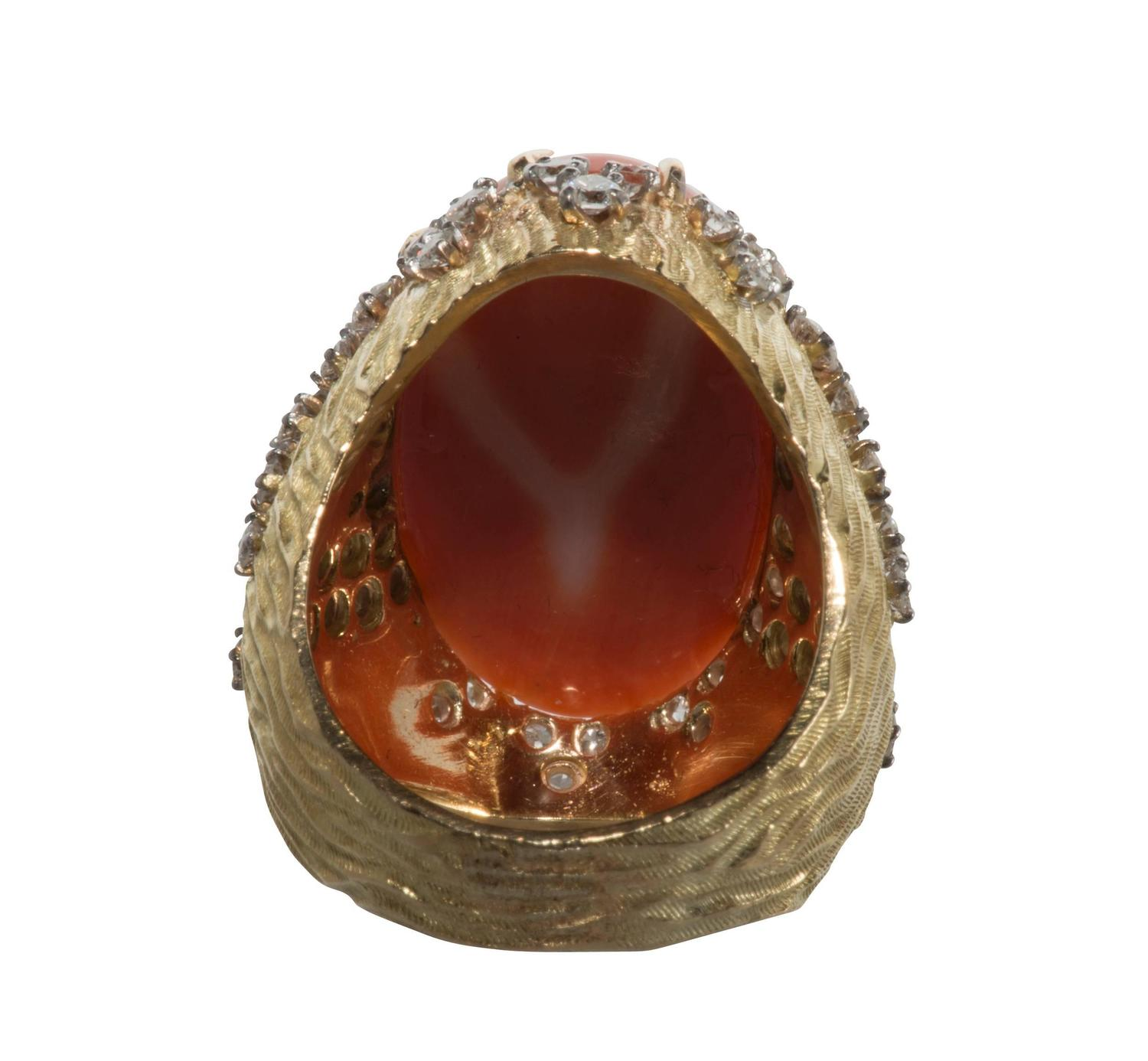cartier coral gold ring at 1stdibs